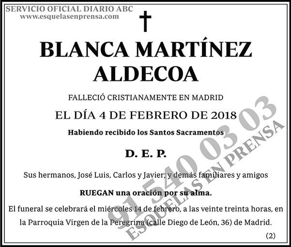 Blanca Martínez Aldecoa